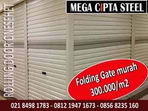 KUSEN ALUMINIUM FOLDING GATE CIPAYUNG DOOR PVC