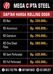 ROLLER VERTICAL BLIND ANCOL ROLLING DOOR ONE SHEET